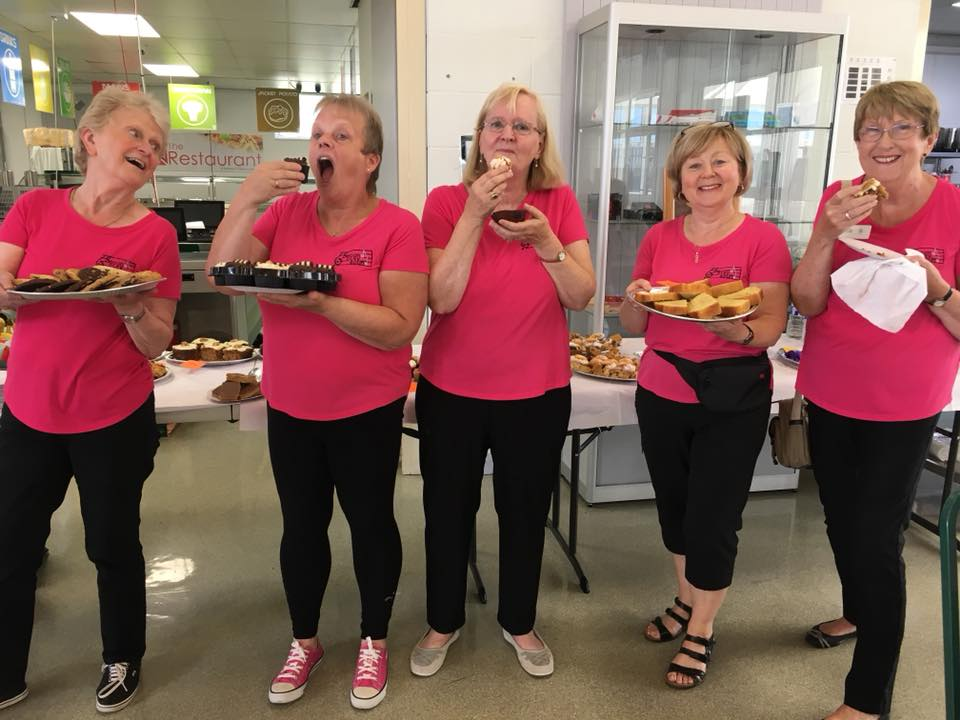 SCS members on catering duty at quartet prelims