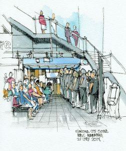 Sketch of Second City Sound at Birmingham Jazz Festival